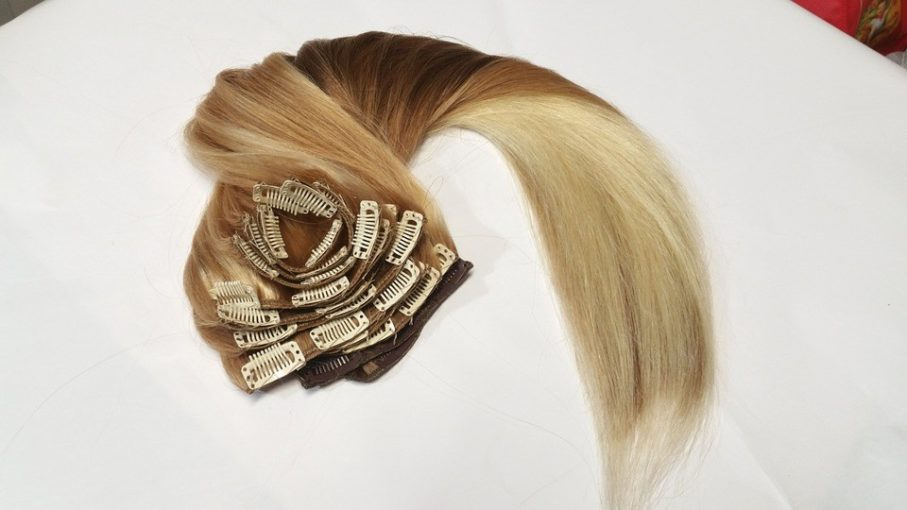 Extensions naturelles à clips - Couleur blond
